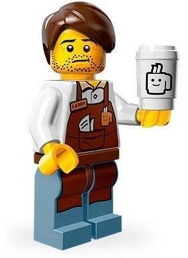 Lego Lego Minifigür - Lego Movie Seri 1 - 71004 - Larry The Barista Renkli